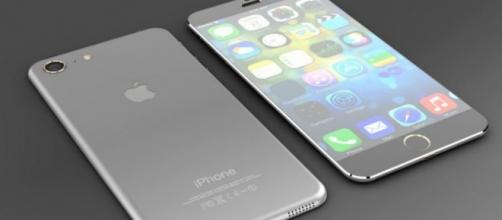 Concepto de un usuario del iPhone 7