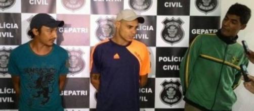 Luan, Bruno e Fernando foram presos