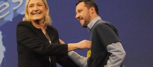 Marine Le Pen e Matteo Salvini.