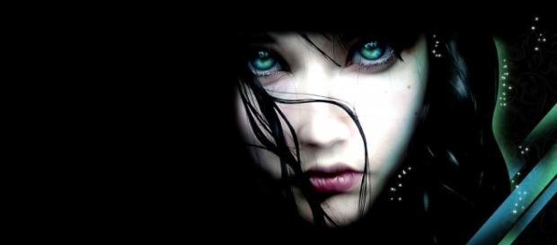 Arte digital de una chica envuelta en la oscuridad