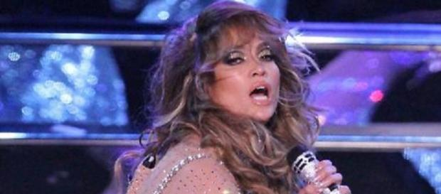 Jennifer Lopez a Las Vegas durante il concerto