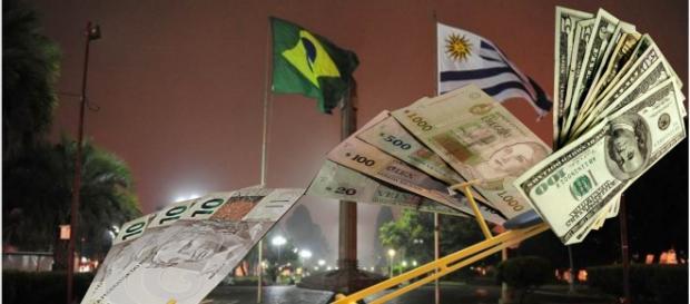 Real, mesmo fraco, sustenta Dólar e Peso uruguaio