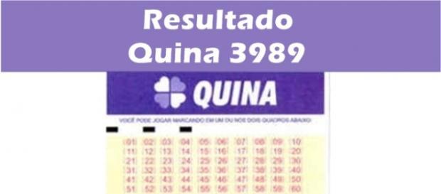 Resultado do jogo da Quina 3989
