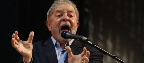 Ex-presidente Lula, durante discurso.