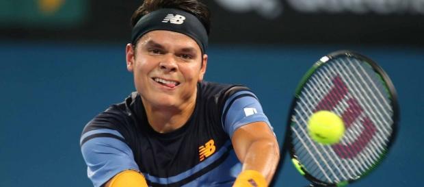Milos Raonic en la final del torneo de Brisbane