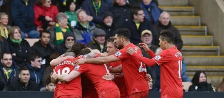 Comemoração dos Jogadores do Liverpool