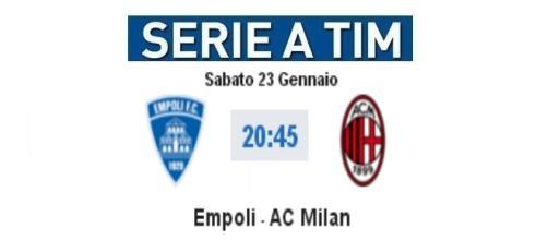 Live Empoli-Milan con video gol e highlights