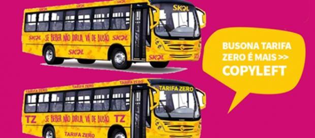 Ônibus da Skol gera protesto em BH