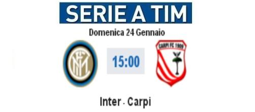 Inter-Carpi in diretta live con video highlights