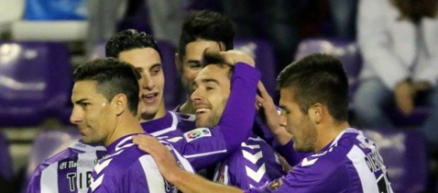 Celebración del Gol del Real Valladolid