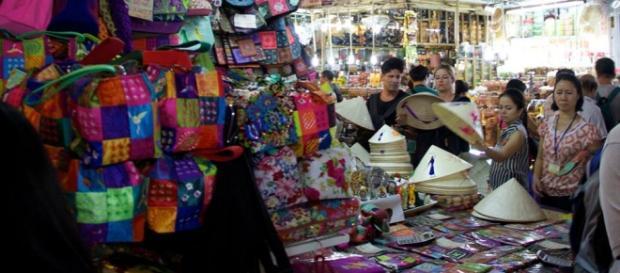 En el interior del mercado Ben Thanh