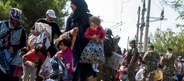 Familias de refugiados en Europa con menores
