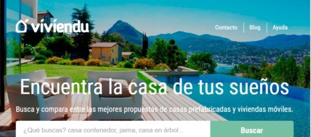 Interfaz de la pagina web Viviendu.