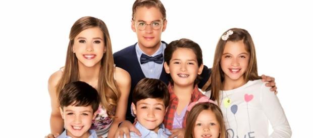 Os sete filhos do protagonista.