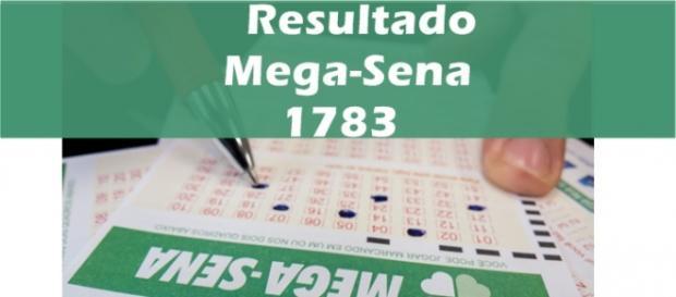 Resultado do jogo Mega-Sena 1783