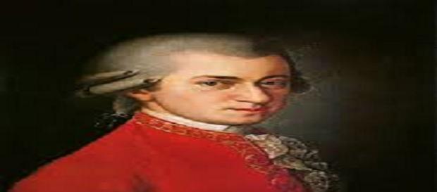 W.A. Mozart in un famoso ritratto