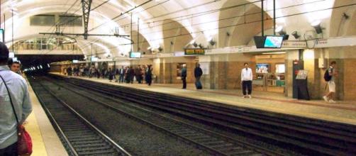 Andenes principales del metro, estación 'Termini'