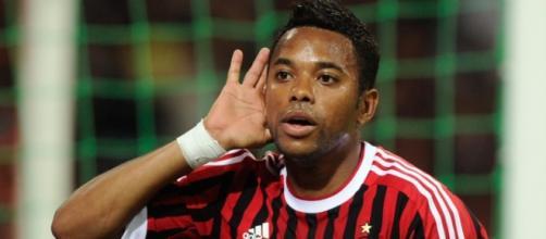 Atacante Robinho, em ação pelo Milan, seu ex-clube