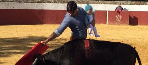 La foto que aparece en la red social del torero