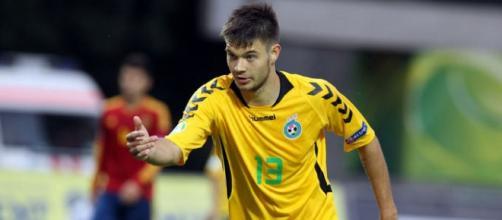 Lukas Spalvis ao serviço da seleção lituana