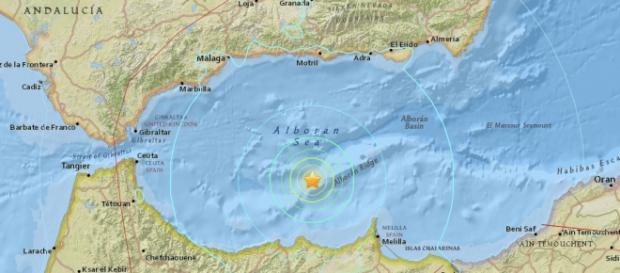 Epicentro del terremoto que ha afectado a Melilla