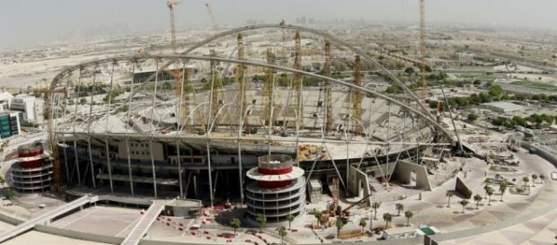 Uno de los estadios para el Mundial Qatar 2020