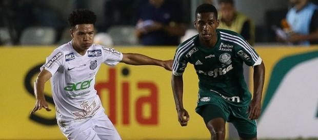 Volante Matheus Sales na final contra Santos