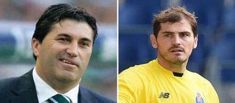 Peseiro y Casillas, técnico y jugador del Oporto