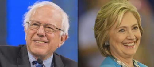 Sanders and Clinton, via YouTube
