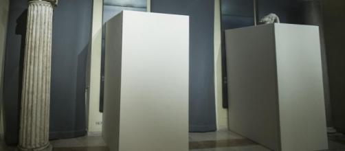 statue capitoline coperte da pannelli