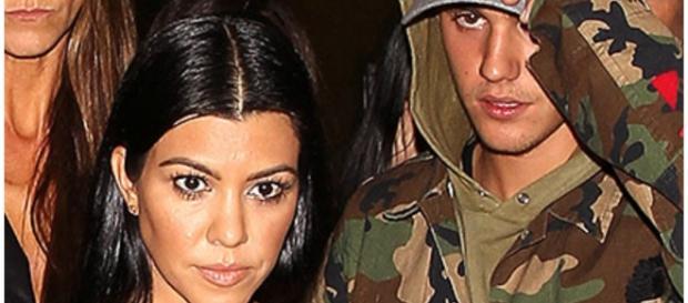 Kourtney Kardashian com Justin Bieber
