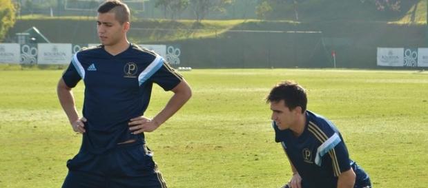 Mouche treina no Palmeiras. Jogador foi negociado