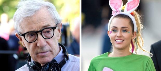 Woody Allen y la cantante y actriz, Miley Cyrus.