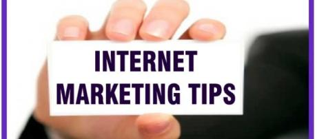 Internet marketing tips with several steps.