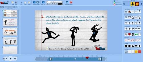 Ambiente para criação de animações com PowToon