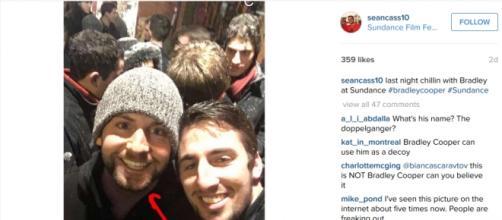 Fake Bradley Cooper spotted on Instagram.