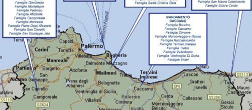 Mafia, nuova mappa clan in provincia di Palermo