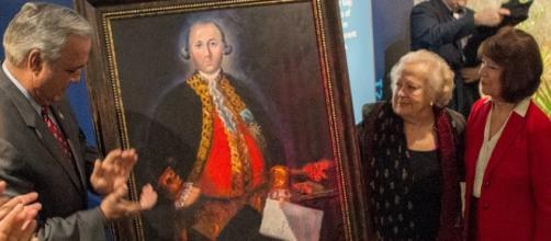 Retrato de Bernardo de Gálvez en Estados Unidos.