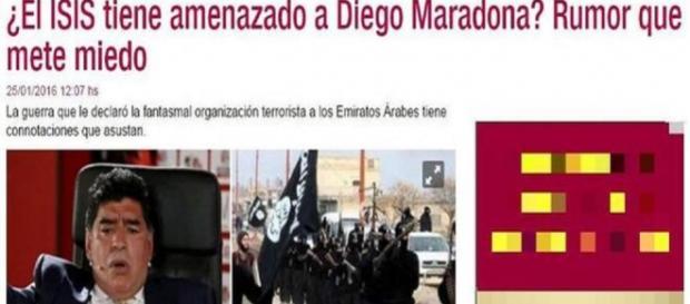Il titolo del giornale argentino