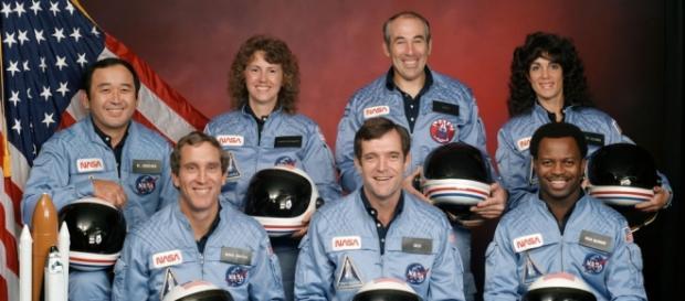 Tripulação do Challenger, que morreu no acidente.