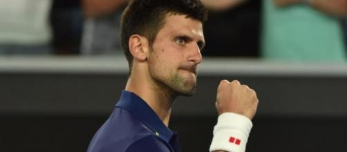 Djokovic celebrando la victoria