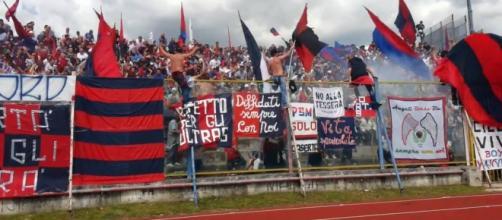 Tifosi della capolista Casertana