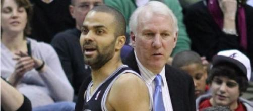 Tony Parker and Gregg Popovich, Flickr CC BY-SA2.0