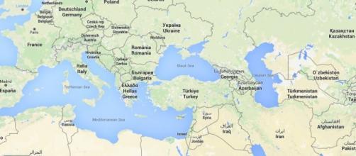 Turquía con respecto a Europa y Oriente Medio