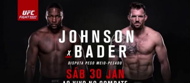 Poster oficial do UFC: Johhson x Bader