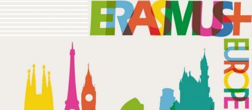 Campanha do programa de mobilidade Erasmus+.