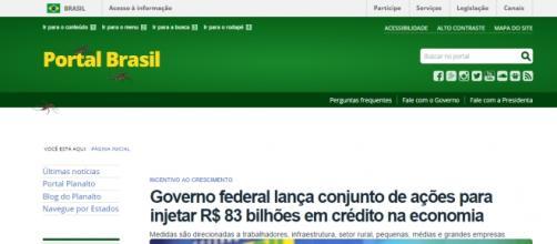 Portal Brasil, do Governo, está com mosquitos.