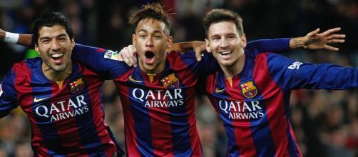 Suárez, Messi y Neymar, jugadores del FC Barcelona