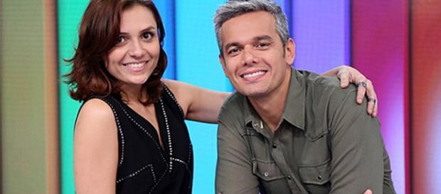 Monica e seu parceiro de bancada, Otaviano Costa