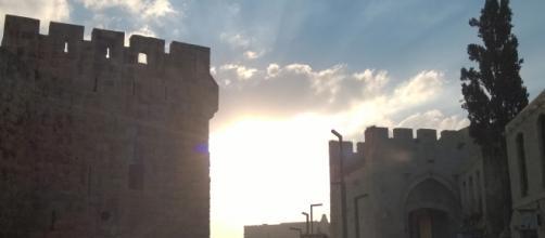 A velha cidade de Jerusalém vista por dentro.